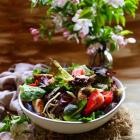 Strawberry Chicken Smoked Cheese Salad