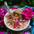Rose Coconut Cardamom Oatmeal