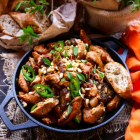 Apricot Pine Nuts Chicken Skillet