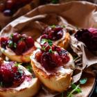 Roasted Grape Bruschetta