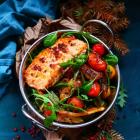 Caramelized Vegetable Salmon Salad