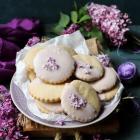 Lilac Shortbread Cookies