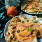 Peaches and Cream Crêpes