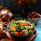 Persimmon Pecan Cheddar Salad