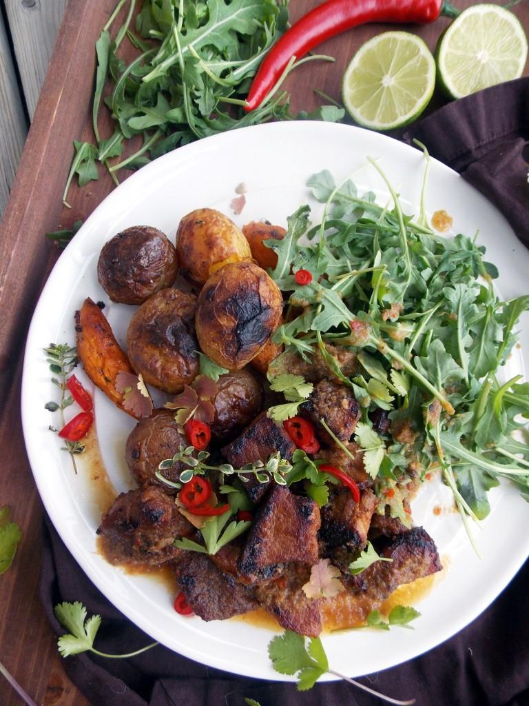 Rhubarb Sauce Stewed Pork (1)