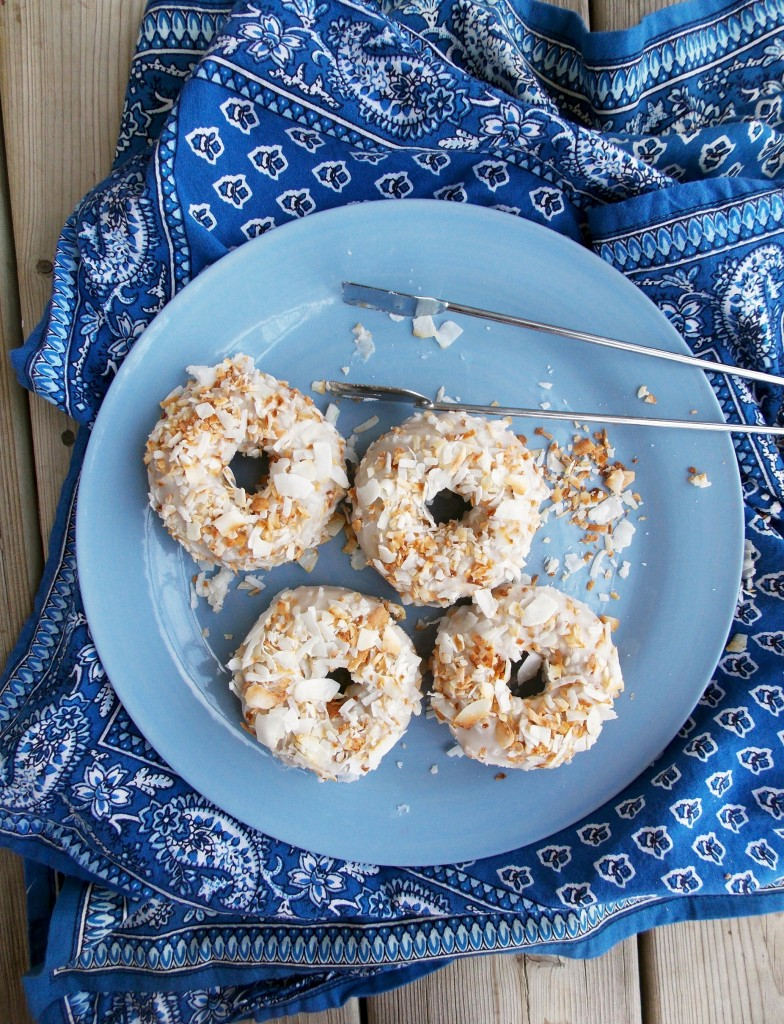 Toasted Coconut Cake Donuts