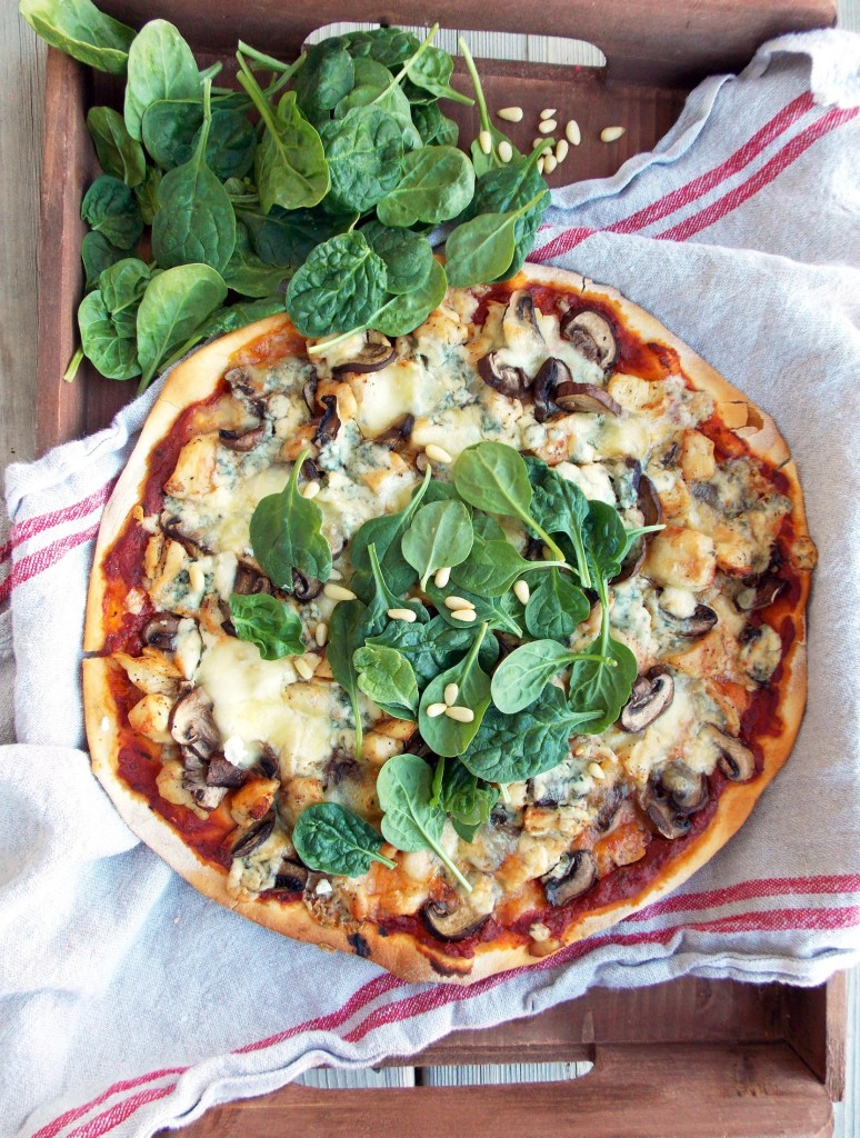 Chicken, Mushrooms and Blue Cheese  (2)