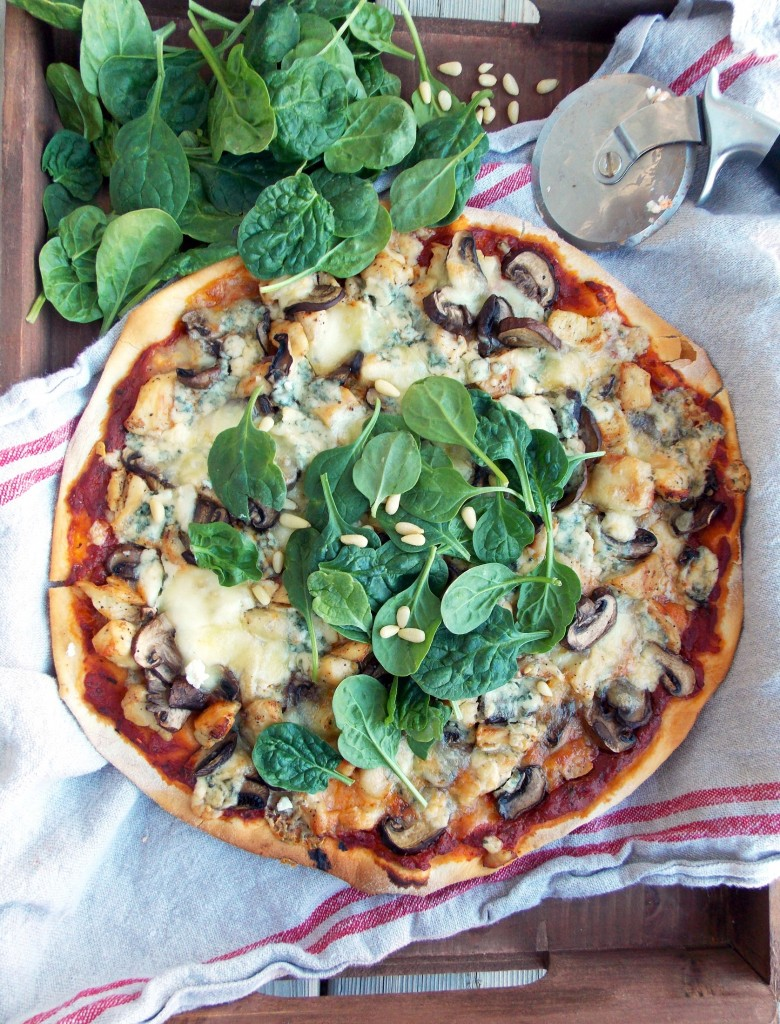 Chicken, Mushrooms and Blue Cheese  (5)