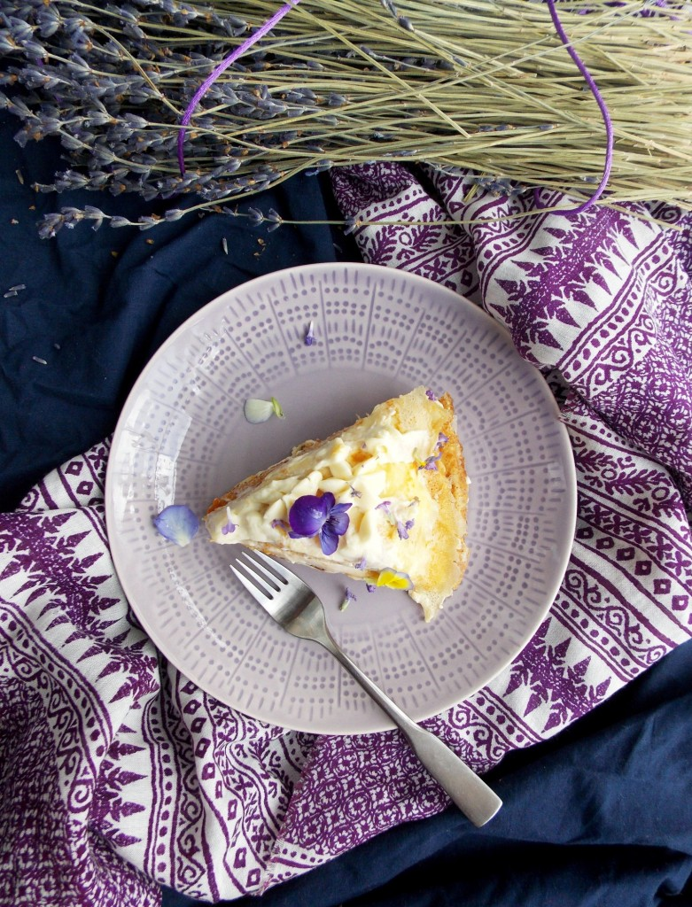 Mascarpone Apricot Lavender Crepe Cake | Havocinthekitchen.com