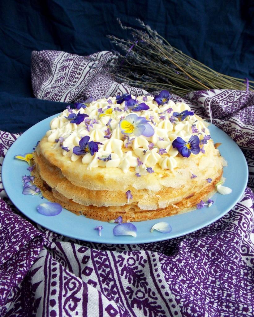 Mascarpone Apricot Lavender Crepe Cake   Havocinthekitchen.com