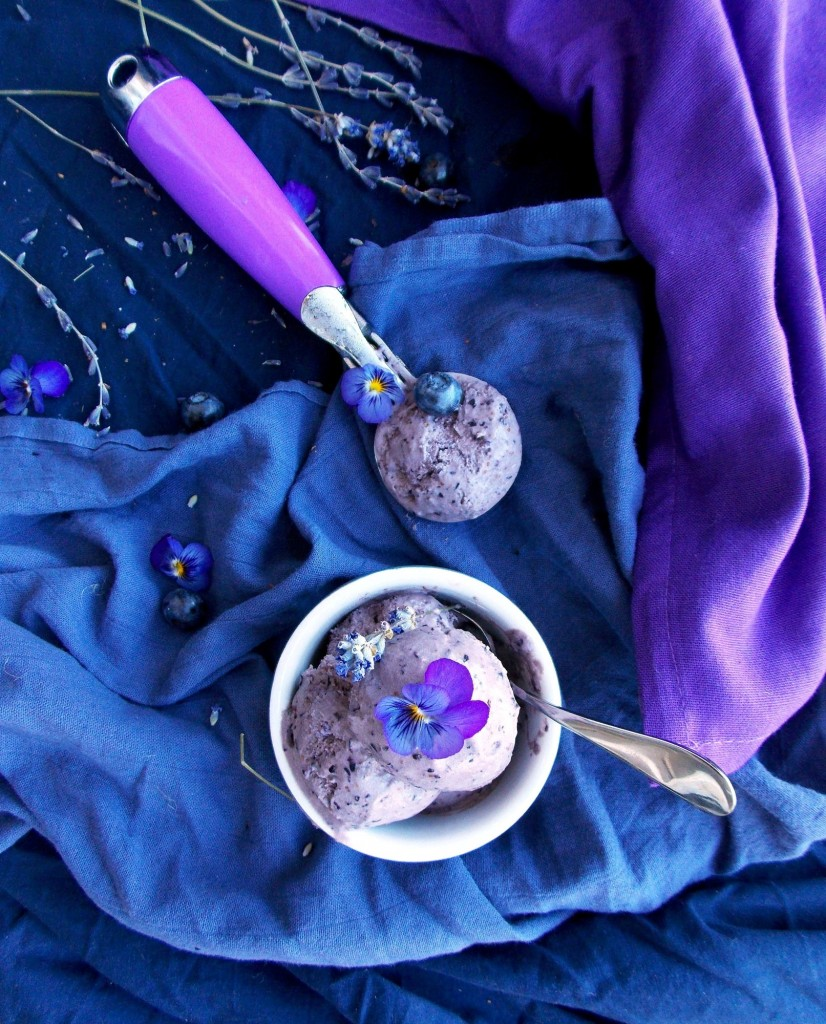 Blueberry Lavender Coconut Ice Cream | Havocinthekitchen.com
