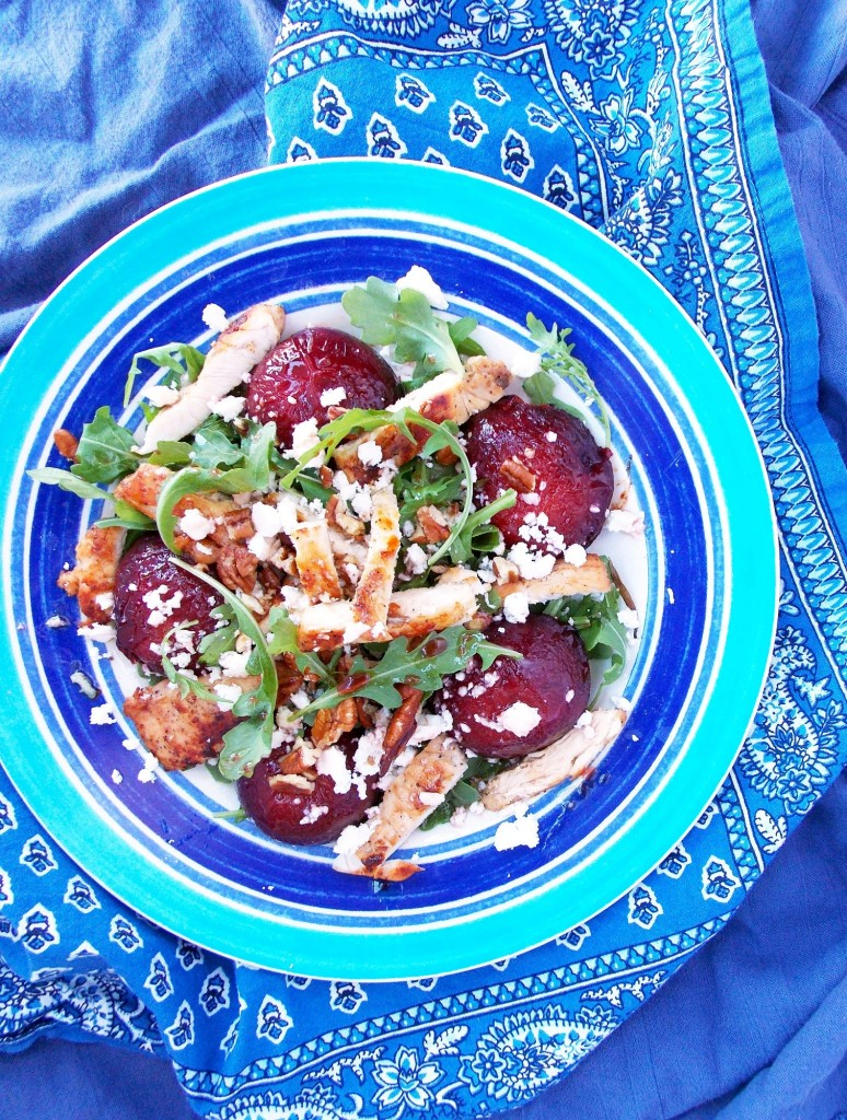 Roasted Plum Chicken Salad | Havocinthekitchen.com