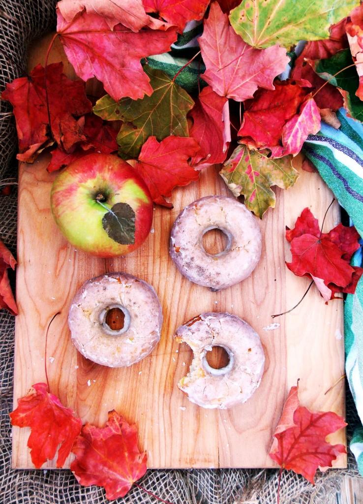 Apple Cardamom Cake Donuts Havocinthekitchen.com