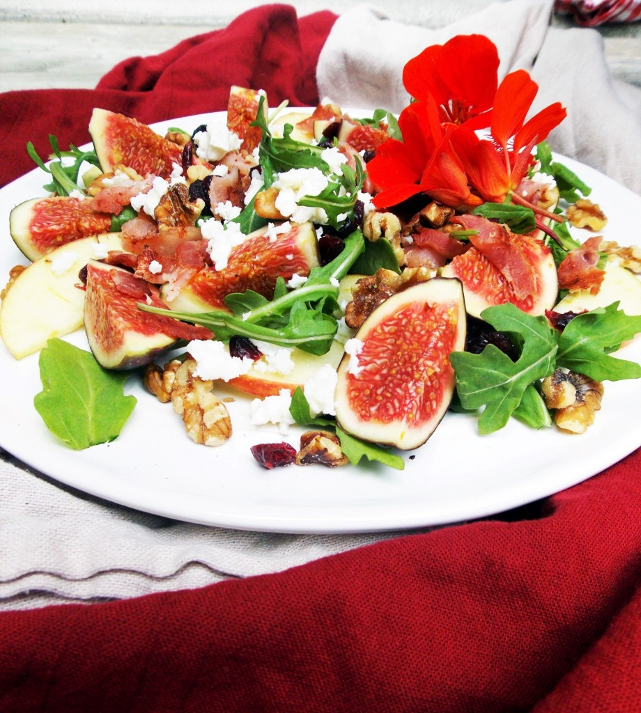 Fig Pear Feta Salad|Havocinthekitchen.com
