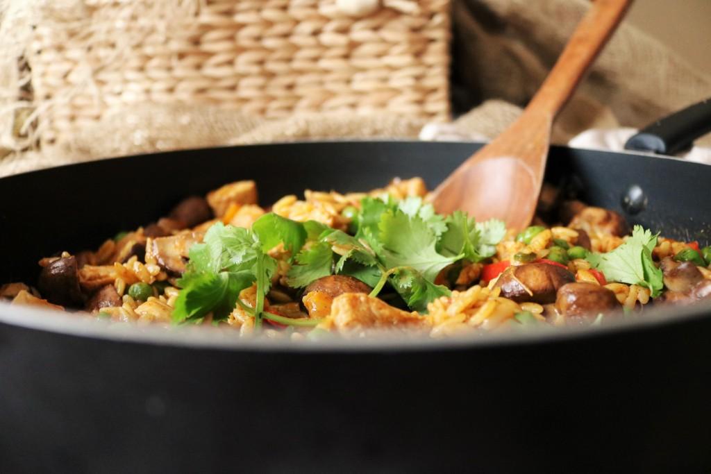One-Pot Chicken Mushroom Orzo|Havocinthekitchen.com
