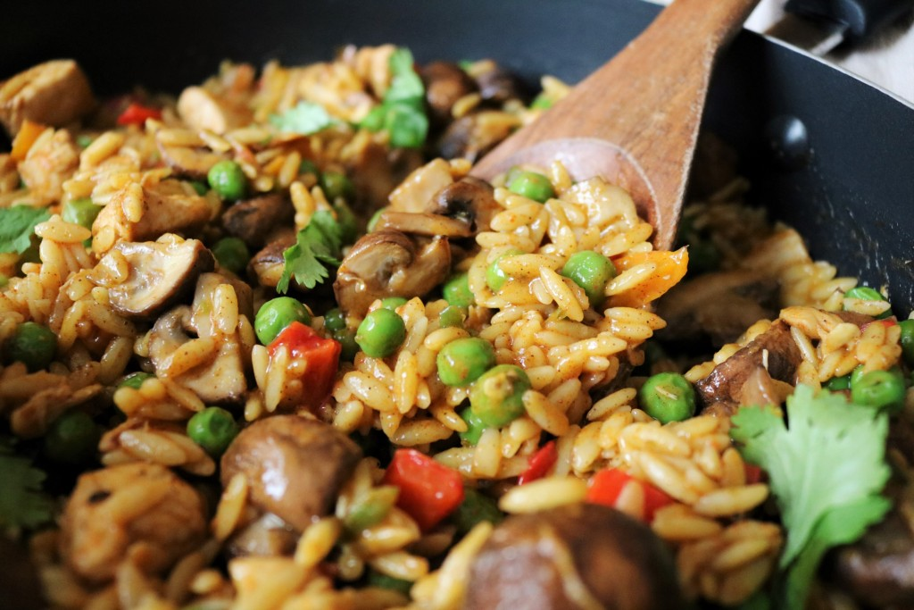 One-Pot Chicken Mushroom Orzo|Havocinthekitchen.com