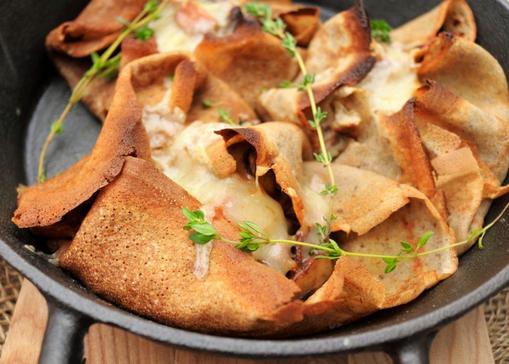 Mushroom Ham Cheddar Buckwheat Crepes (10) (Custom)