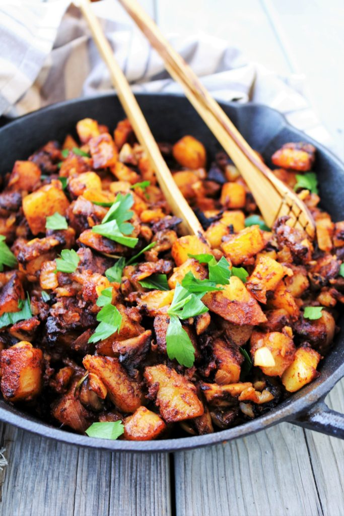 Potato Mushroom Hash|Havocinthekitchen.com