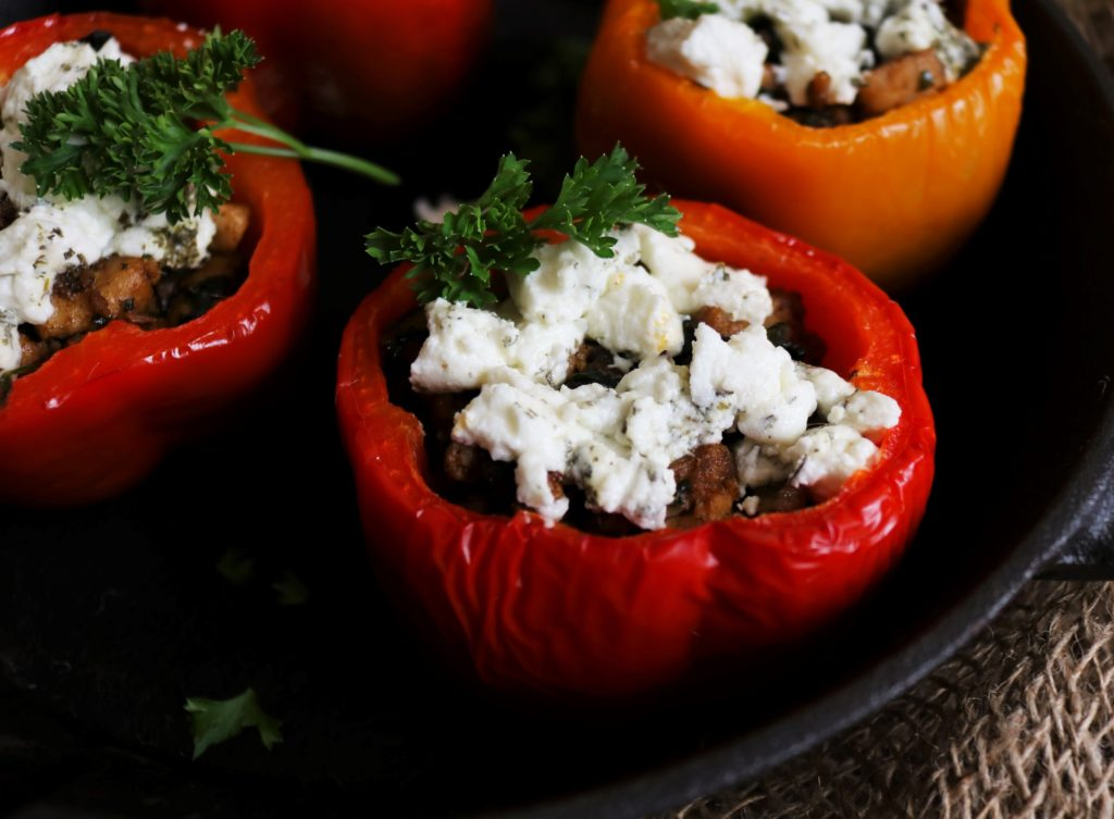 Chicken Mushroom Stuffed Sweet Peppers|Havocinthekitchen.com