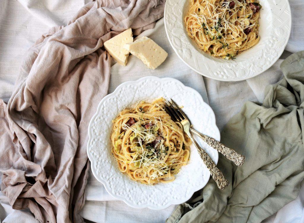 Leek Pancetta Pasta Havocinthekitchen.com