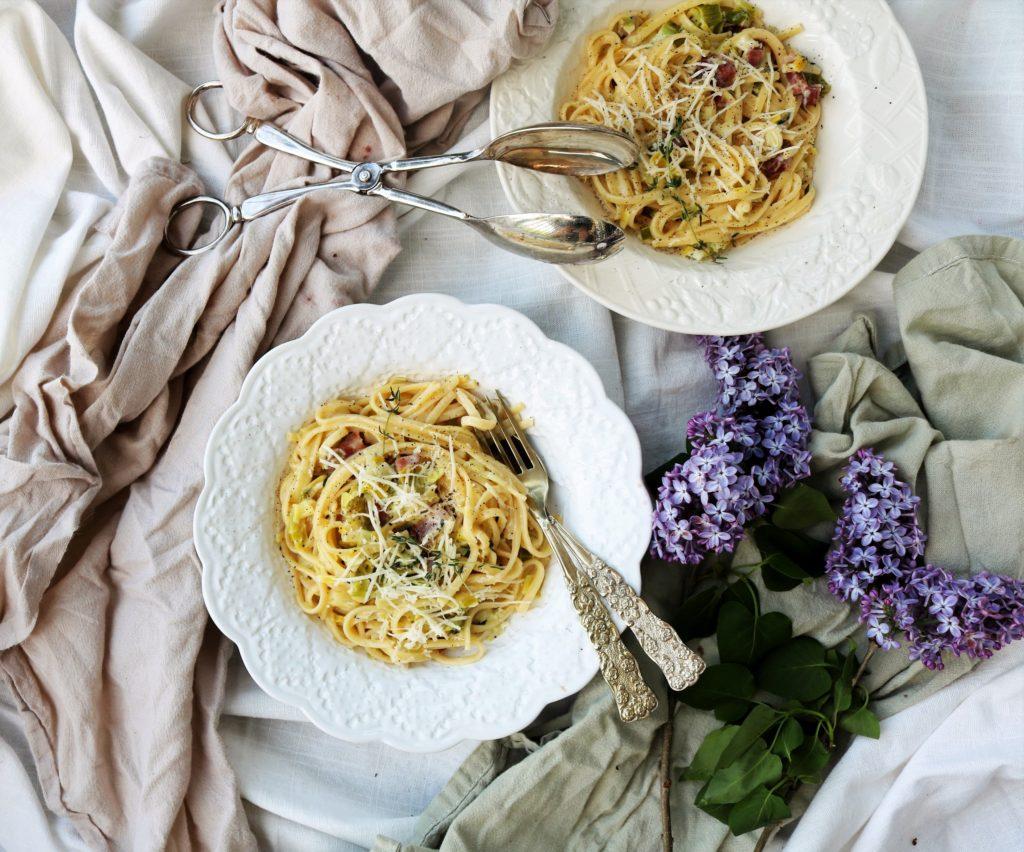Leek Pancetta Pasta|Havocinthekitchen.com