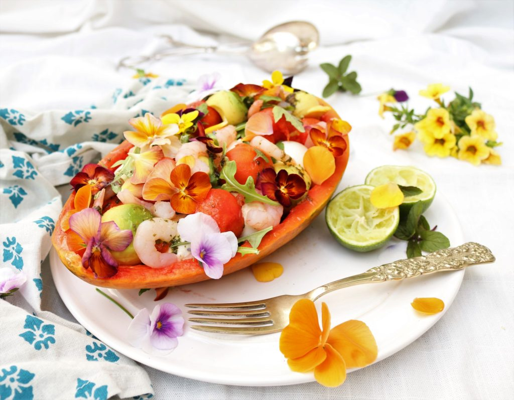 Papaya Salad Boat|Havocinthekitchen.com