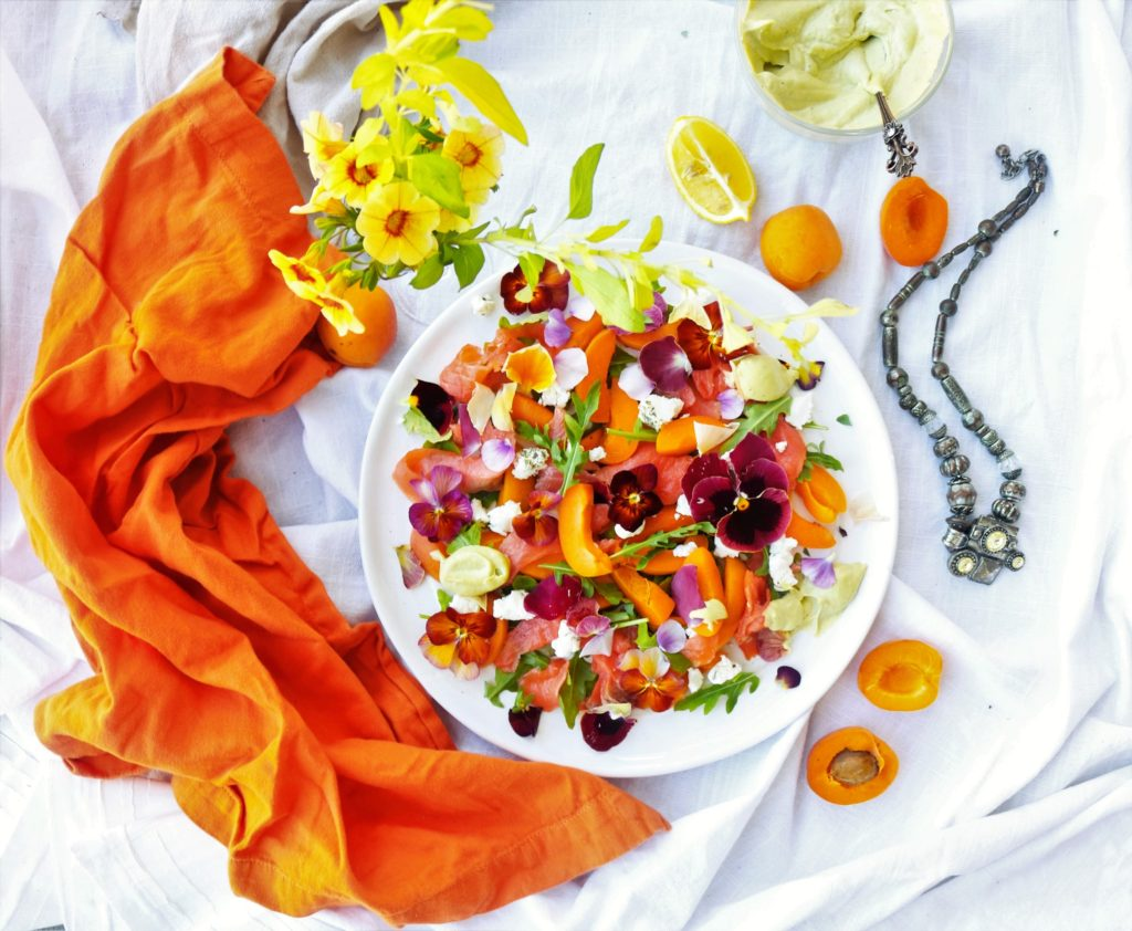Smoked Salmon Apricot Salad|Havocinthekitchen.com