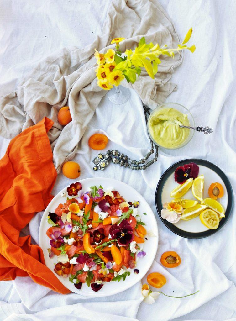 Smoked Salmon Apricot Salad|Havocinthekitchen.com