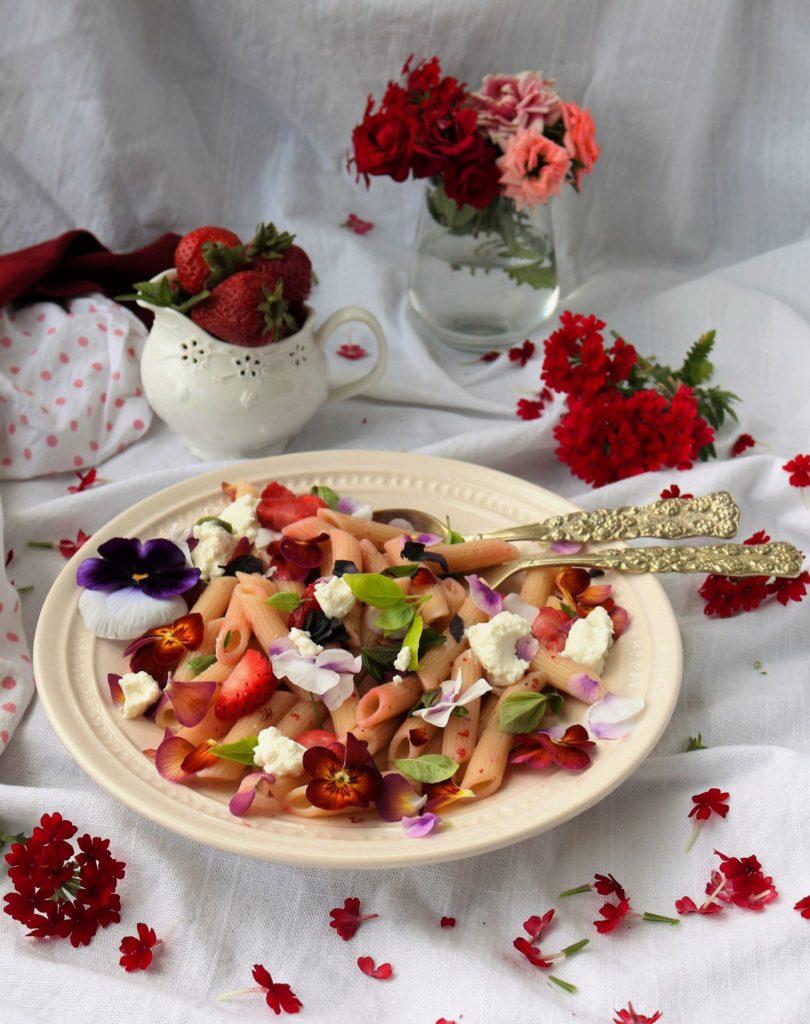 Strawberry Basil Ricotta Pasta Havocinthekitchen.com