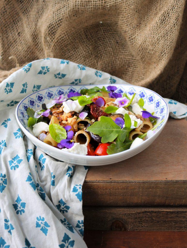 Eggplant Ricotta Pasta Salad|Havocinthekitchen.com