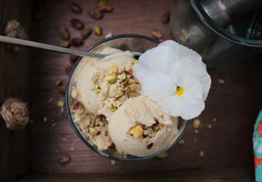 Halvah Ice Cream Recipe — Dishmaps