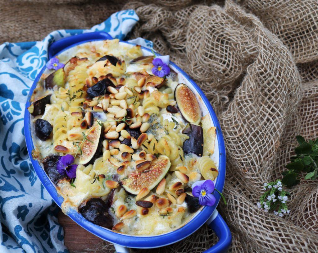 Fig Brie Blue Cheese Pasta Bake|Havocinthekitchen.com