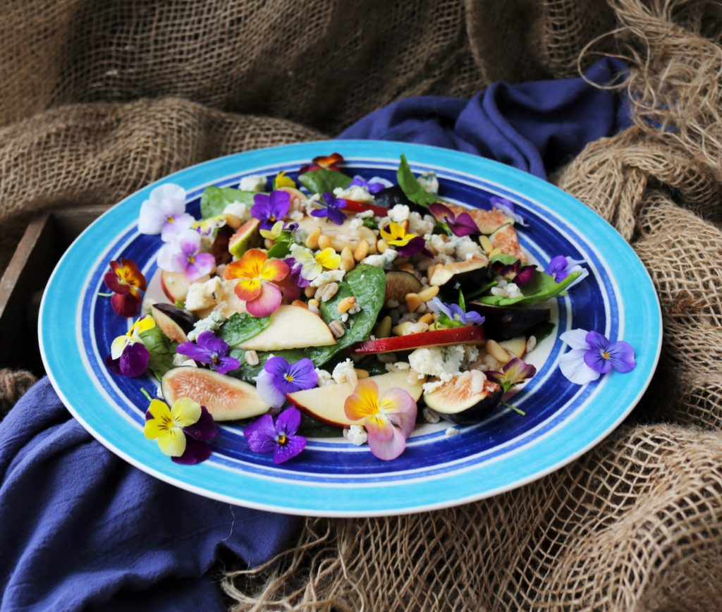 Fig Pear Barley Salad|Havocinthekitchen.com