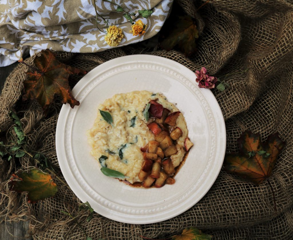 Spiced Maple Apple Cider Risotto|Havocinthekitchen.com