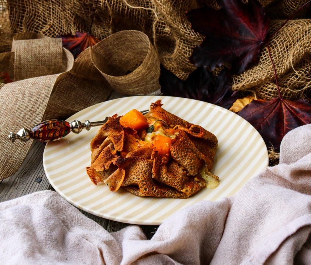 Butternut Squash Chicken Buckwheat Crêpes
