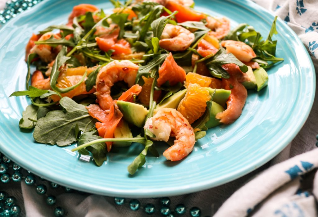 Smoked Salmon Shrimp Mandarin Salad|Havocinthekitchen.com