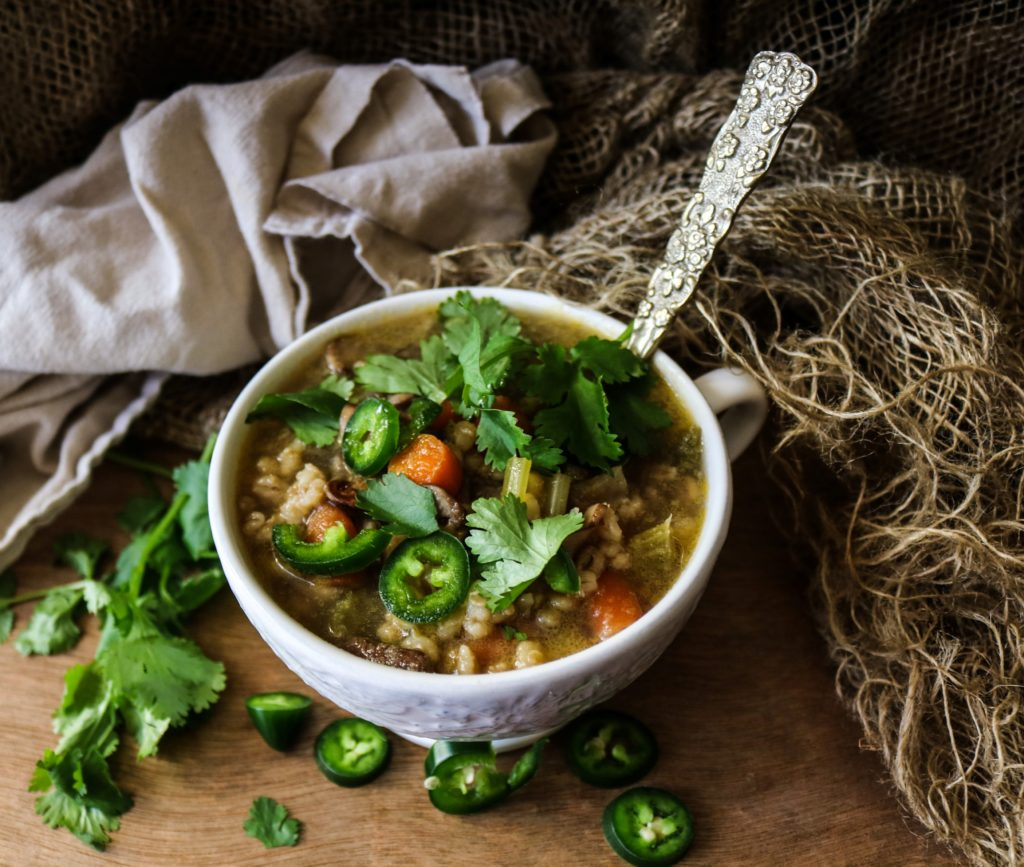 Vegetable Mushroom Barley Soup|Havocinthekitchen.com