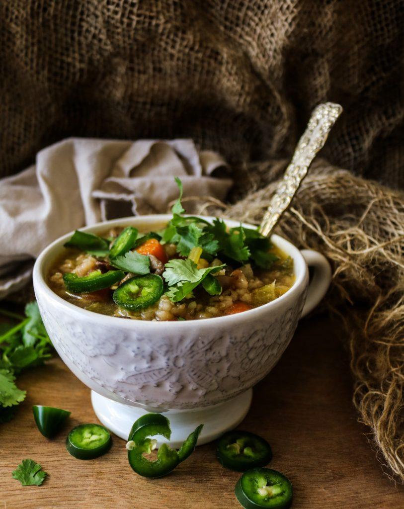 Vegetable Mushroom Barley Soup Havocinthekitchen.com