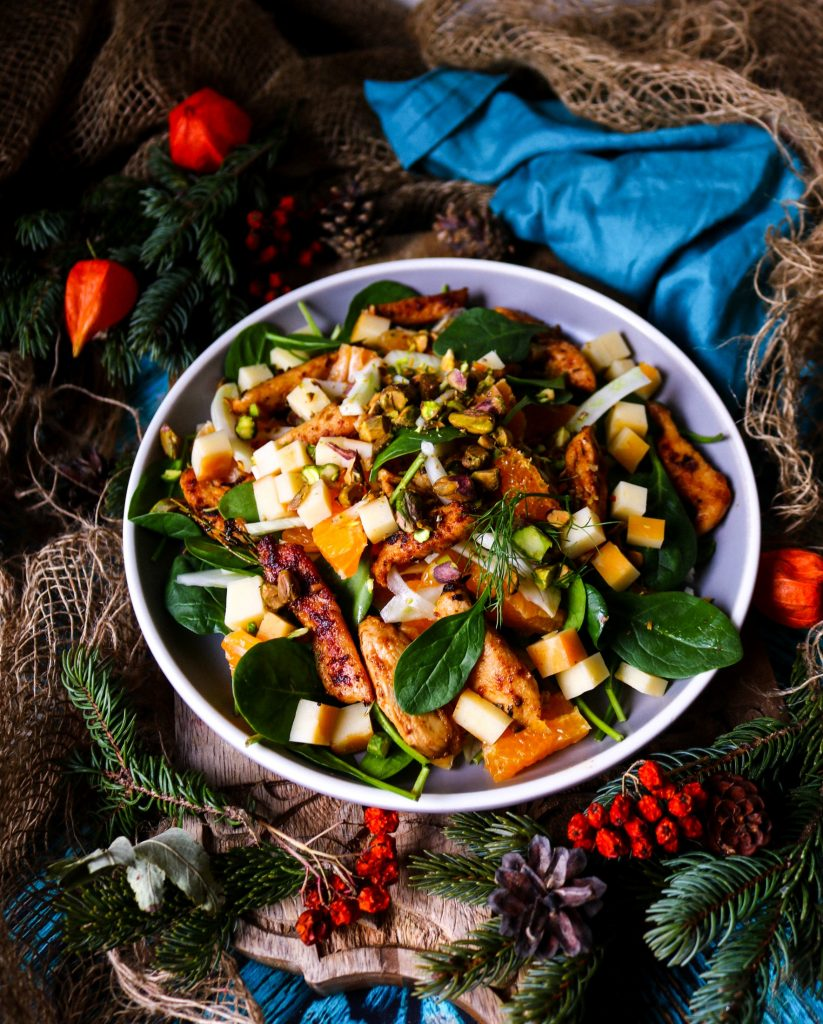 Tangerine Chicken Smoked Cheddar Salad