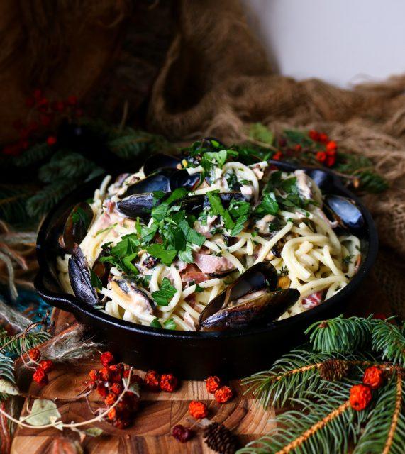 Mussel Prosciutto Mascarpone Pasta