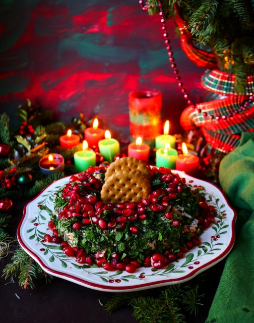 Christmas Wreath Cheeseball