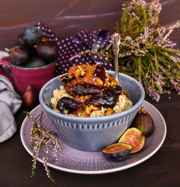 Fig Walnut Honey Oatmeal