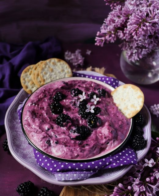 Blackberry Lilac Goat Cheese