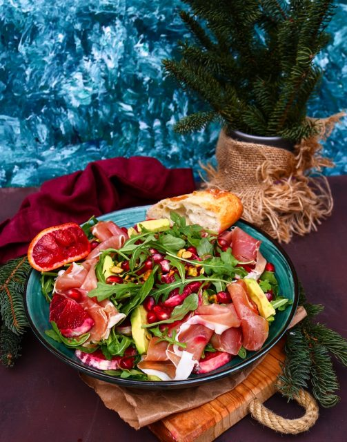 Blood Orange Prosciutto Salad