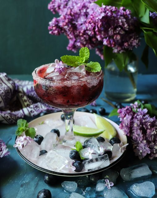 Blueberry Lime Martini Cocktail