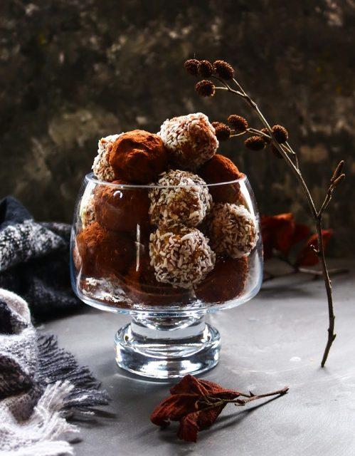 Bourbon Date Pecan Truffles