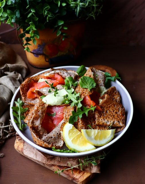 Buckwheat Crêpes with Smoked Salmon