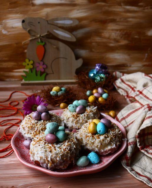 Easter Nest Baked Donuts