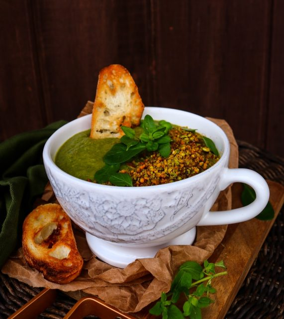 Green Soup with Pistachios