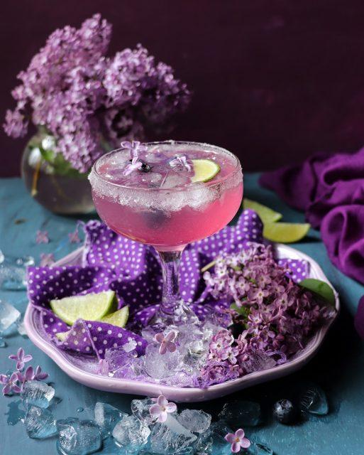 Lilac Martini Vermouth Cocktail